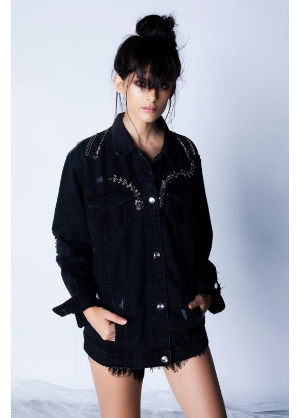 COUTURE EMBROIDERY DENIM JACKET