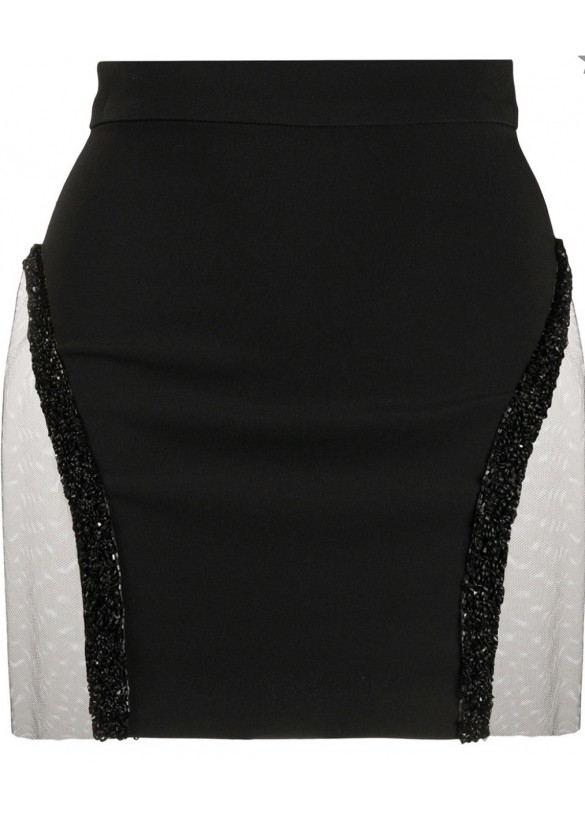 FITTED MINI SKIRT WITH SEQUINS