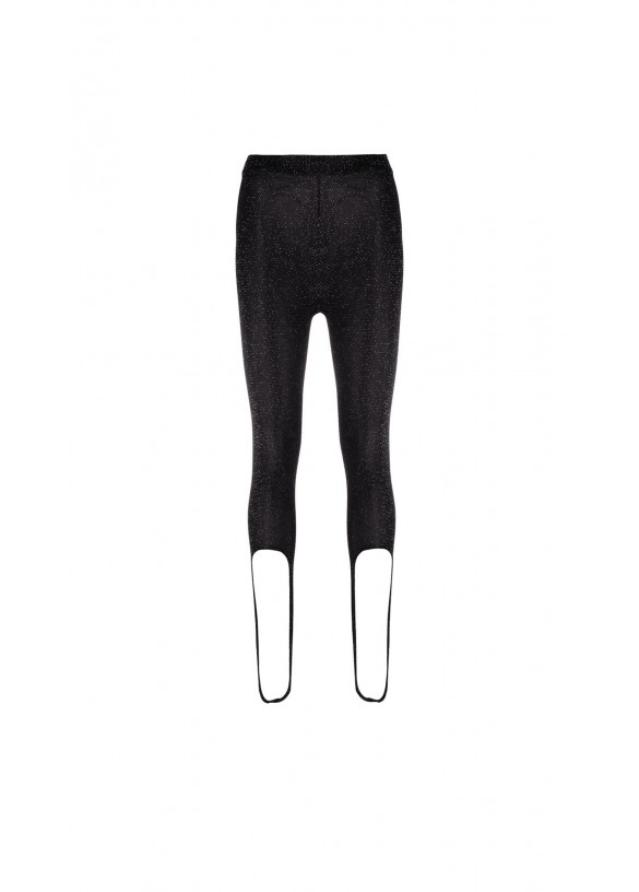 CUT-OUT STUD EMBELLISHED TROUSERS