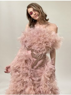 Embellished Ruffle Tulle Gown