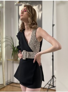 Rhinestone Deconstructed Blazer Dress